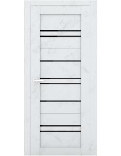 """Межкомнатная  дверь - сибирь профиль """"ЭКО Delux 312""""  бетон - светлый"""