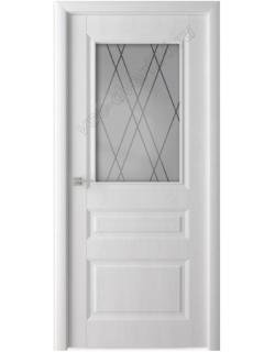 Дверь межкомнатная Сибирь профиль S12  белый ясень