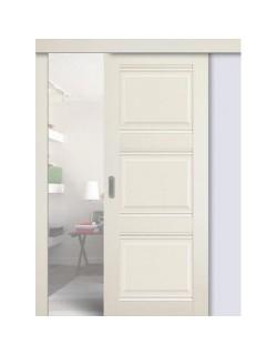 Дверь раздвижная экошпон №3Х-Классика, цвет эш вайт, глухая