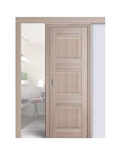 Дверь раздвижная экошпон №3Х-Классика, цвет орех пекан, глухая