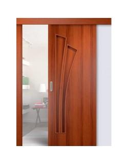 Дверь раздвижная Лагуна (С-7), цвет итальянский орех, глухая