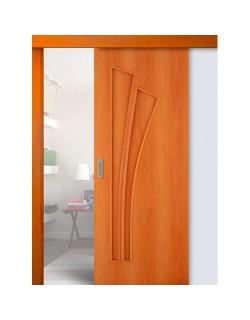 Дверь раздвижная Лагуна (С-7), цвет миланский орех, глухая
