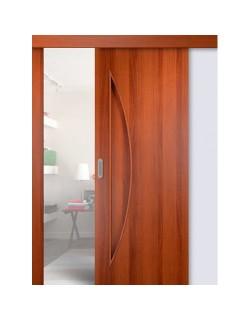 Дверь раздвижная Луна (С-6), цвет итальянский орех, глухая