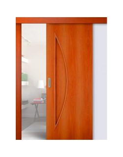 Дверь раздвижная Луна (С-6), цвет миланский орех, глухая