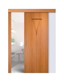 Дверь раздвижная Рюмка (С-4), цвет миланский орех, глухая