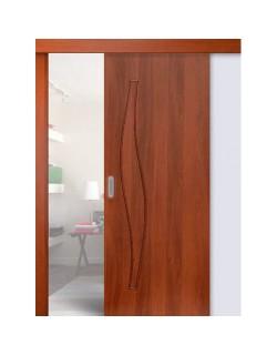 Дверь раздвижная Волна (С-10), цвет итальянский орех, глухая