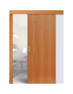 Дверь раздвижная Волна (С-10), цвет миланский орех, глухая