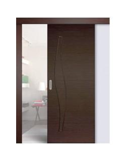 Дверь раздвижная Волна (С-10), цвет венге 3D, глухая