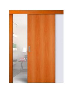 Дверь раздвижная ДПГ, цвет миланский орех, глухая