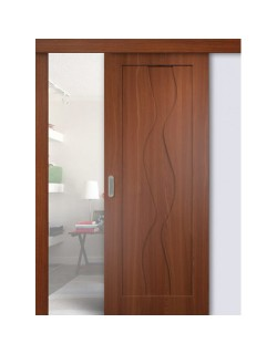 Дверь раздвижная ПВХ Водопад, цвет итальянский орех, глухая