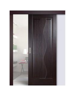 Дверь раздвижная ПВХ Водопад, цвет венге, глухая