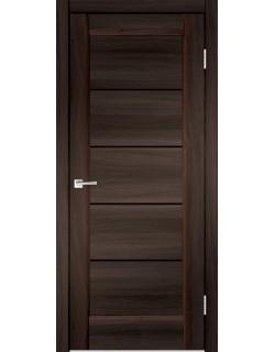 Межкомнатная дверь PREMIER 1 орех каштан, черное стекло
