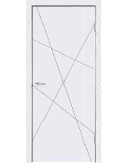 Межкомнатная дверь SCANDI S, эмаль белая