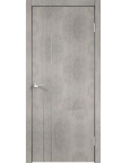 Межкомнатная дверь TECHNO M2, муар светло-серый