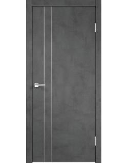 Межкомнатная дверь TECHNO M2, муар темно-серый