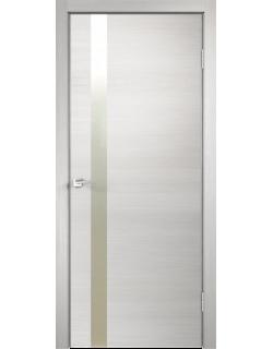 Межкомнатная дверь TECHNO Z1 с замком, дуб белый
