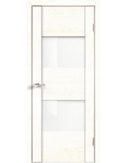 Межкомнатная дверь Modern 2, белый ясень, стекло белый лакобель