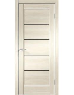Межкомнатная дверь PREMIER 1, ясень японский, черное стекло