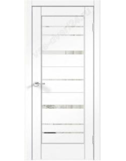 Межкомнатная дверь PREMIER 22, ясень белый, стекло зеркало