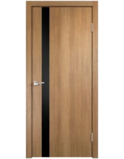 Межкомнатная дверь SMART Z 1, дуб золотой, стекло черное
