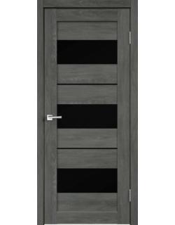 Дверь межкомнатная Velldoris Duplex 12 лакобель черное экошпон Дуб Шале графит