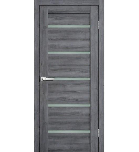 Межкомнатная дверь L26 (3d экошпон) дуб стоунвуд (серый)