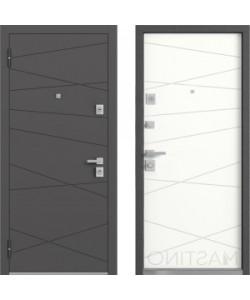 Входная дверь Mastino MONTE графит софт/белый софт