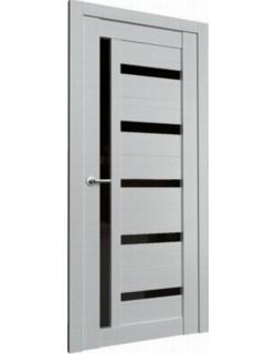 Межкомнатная дверь Fonseca 12 ясень белый, черный лакобель