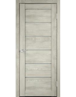 Дверь межкомнатная Velldoris Linea 1 мателюкс экошпон Дуб Шале седой