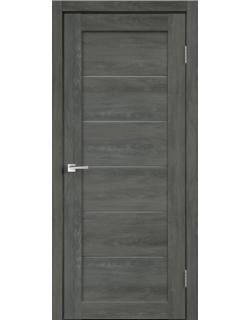 Дверь межкомнатная Velldoris Linea 1 мателюкс экошпон Дуб Шале графит