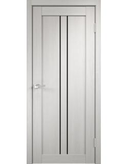 Дверь межкомнатная Velldoris Linea 2 лакобель черное экошпон Белый дуб