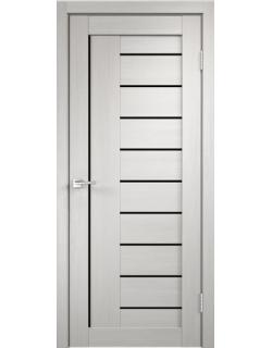 Дверь межкомнатная Velldoris Linea 3 лакобель черное экошпон Белый дуб