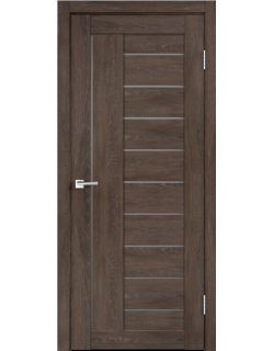 Дверь межкомнатная Velldoris Linea 3 мателюкс экошпон Дуб Шале корица