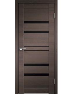 Дверь межкомнатная Velldoris Linea 6 лакобель черное экошпон Венге Браш