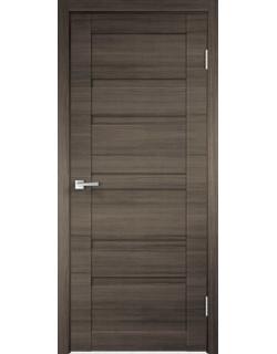 Дверь межкомнатная Velldoris Linea 6 глухое экошпон Дуб серый поперечный