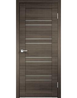 Дверь межкомнатная Velldoris Linea 8 мателюкс экошпон Дуб серый поперечный