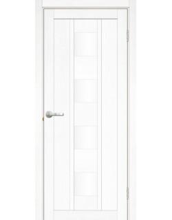 Межкомнатная дверь Эмилия 1 Велюр белый