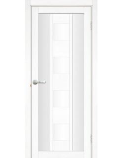Межкомнатная дверь Эмилия 2 Велюр белый
