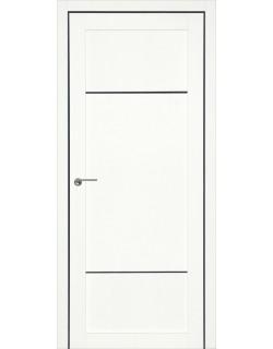 Дверь межкомнатная Тунис 1 велюр белый