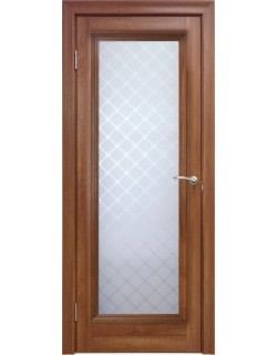 Межкомнатная дверь 1 V Туркуаз Вельвет орех