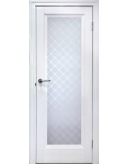 Межкомнатная дверь 1 V Туркуаз Велюр белый
