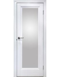 Межкомнатная дверь 1 V Велюр белый