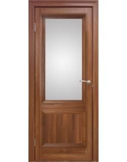 Межкомнатная дверь 2 V Вельвет орех