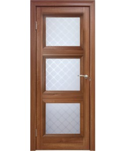 Межкомнатная дверь 3 V Туркуаз Вельвет орех