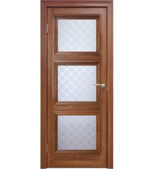Межкомнатная дверь 3 V Вельвет орех