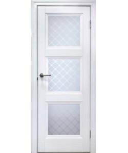 Межкомнатная дверь 3 V Туркуаз Велюр белый