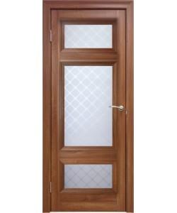 Межкомнатная дверь 4 V Туркуаз Вельвет орех