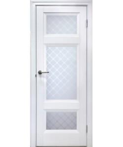 Межкомнатная дверь 4 V Туркуаз Велюр белый