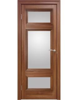 Межкомнатная дверь 4 V Вельвет орех