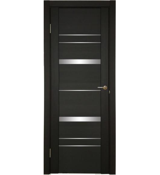 Дверь межкомнатная U-3027 шоко, зеркальное стекло
